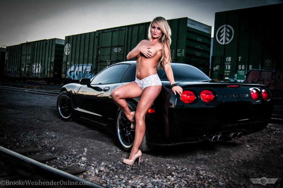 Brooke Weisbender Black Corvette 2
